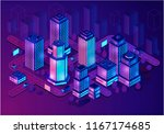 smart buildings isometric... | Shutterstock .eps vector #1167174685