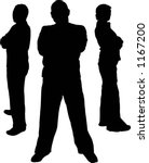 silhouettes of bodyguards  ... | Shutterstock .eps vector #1167200