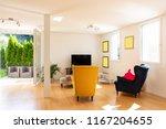 design stay in a modern... | Shutterstock . vector #1167204655