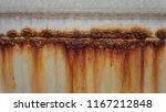 rusty deformed metal wall.... | Shutterstock . vector #1167212848