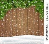 christmas greeting card... | Shutterstock .eps vector #1167214018