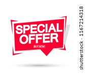 special offer  sale banner... | Shutterstock .eps vector #1167214318