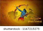 illustration of lord rama... | Shutterstock .eps vector #1167215275