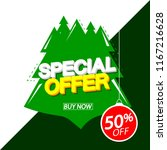 special offer  christmas sale ... | Shutterstock .eps vector #1167216628