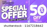 special offer  sale poster...   Shutterstock .eps vector #1167218662