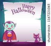 little kid in costume of... | Shutterstock .eps vector #1167221065