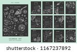 year 2019 calendar with... | Shutterstock .eps vector #1167237892