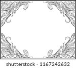 vintage black frame with empty... | Shutterstock .eps vector #1167242632