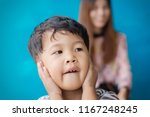 child play with mom on against... | Shutterstock . vector #1167248245