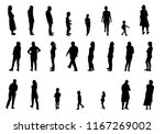 set of black and white... | Shutterstock .eps vector #1167269002