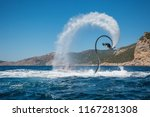 flyboarding and seariding on... | Shutterstock . vector #1167281308