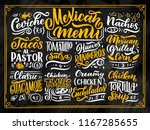 mexican menu lettering with... | Shutterstock .eps vector #1167285655