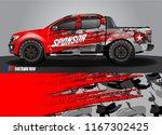 cargo truck decal wrap design... | Shutterstock .eps vector #1167302425
