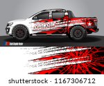 pick up truck and car decal... | Shutterstock .eps vector #1167306712