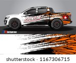 pick up truck and car decal... | Shutterstock .eps vector #1167306715