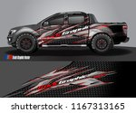 pick up truck and car decal... | Shutterstock .eps vector #1167313165