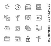 collection of 16 www outline... | Shutterstock .eps vector #1167324292