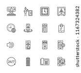 collection of 16 dial outline...