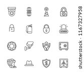 collection of 16 safety outline ... | Shutterstock .eps vector #1167327958