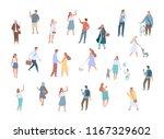 different people vector... | Shutterstock .eps vector #1167329602