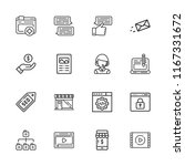 collection of 16 online outline ... | Shutterstock .eps vector #1167331672