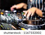 young girl female shot party dj ... | Shutterstock . vector #1167332002