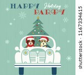 happy holidays party poster.... | Shutterstock .eps vector #1167334615