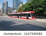 ttc streetcar  downtown toronto ... | Shutterstock . vector #1167340282