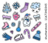 set of colorful stickers or...   Shutterstock .eps vector #1167340345