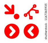 next icons set with down right...   Shutterstock .eps vector #1167365935