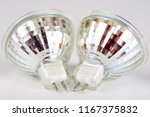 halogen bulb on a white table.... | Shutterstock . vector #1167375832