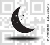 vector icon moon   Shutterstock .eps vector #1167385348
