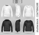 white and black sweatshirt... | Shutterstock .eps vector #1167386188