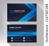 business model name card modern ... | Shutterstock .eps vector #1167387388