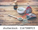 homemade sachets with wormwood  ... | Shutterstock . vector #1167388915