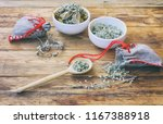 homemade sachets with wormwood  ... | Shutterstock . vector #1167388918