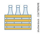 beer case color icon. wine or... | Shutterstock .eps vector #1167389698