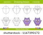 drawing lesson for children.... | Shutterstock .eps vector #1167390172