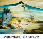 original oil painting based on... | Shutterstock . vector #1167391645