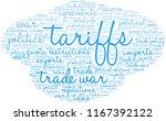 tariffs word cloud on a white...   Shutterstock .eps vector #1167392122