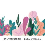 leaves border vector... | Shutterstock .eps vector #1167395182