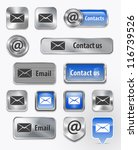 collection of contact mail... | Shutterstock .eps vector #116739526