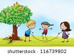 illustration of a  park scene...   Shutterstock . vector #116739802