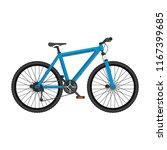 mountain bike in realistic... | Shutterstock .eps vector #1167399685