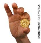 showing australian one dollar... | Shutterstock . vector #116740465