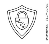 cybersecurity linear icon.... | Shutterstock .eps vector #1167406738