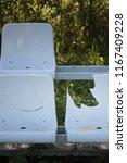 retro empty broken sit on a... | Shutterstock . vector #1167409228