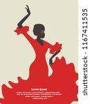 flamenco dancer vector... | Shutterstock .eps vector #1167411535
