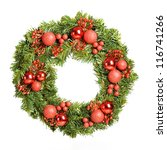 decorative christmas wreath... | Shutterstock . vector #116741266