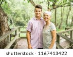 grandmother and grandson spend... | Shutterstock . vector #1167413422